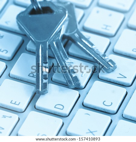 Keys on laptop keyboard