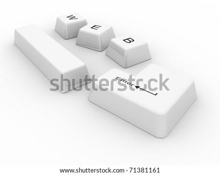 keys on white a background. isolated - stock photo
