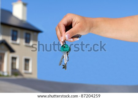Keys to your new house - stock photo