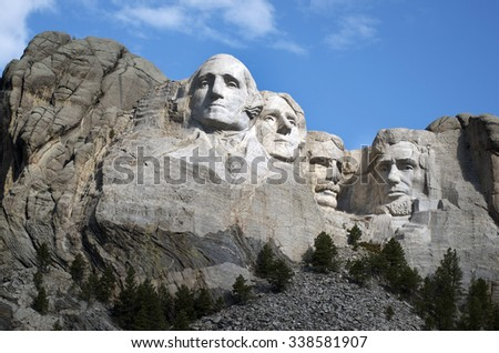 KEYSTONE, SOUTH DAKOTA July 2015 - Mt. Rushmore National Memorial near Keystone, North Dakota, USA