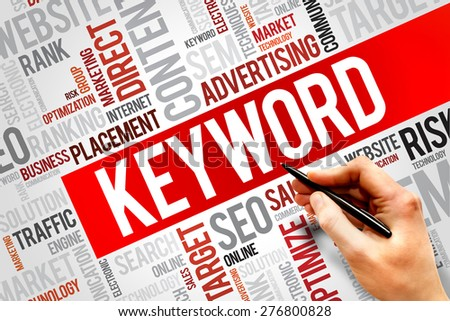 KEYWORD word cloud, business concept - stock photo