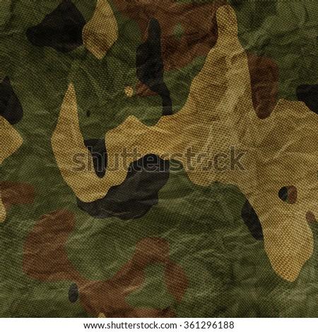 Khaki camouflage texture - stock photo