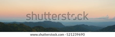 Khao Kho Mountain at sunset, Phetchabun Province, Thailand (panorama)