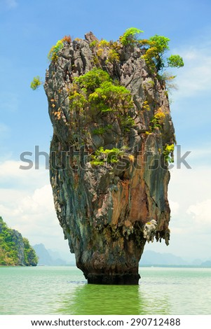 Khao Phing Kan is a pair of islands on the west coast of Thailand, in the Phang Nga Bay, Andaman Sea, near Phuket.