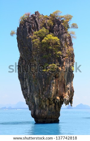 Khao Phing Kan, known as James Bond island, Phang Nga Bay, Thailand