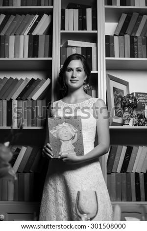 KHARKOV, UKRAINE - 25 JULY 2015:wedding girl bride fiancee  - stock photo