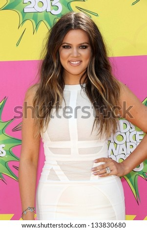 Khloe Kardashian at Nickelodeon's 26th Annual Kids' Choice Awards, USC Galen Center, Los Angeles, CA 03-23-13 - stock photo