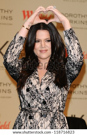 Khloe Kardashian launch their new Kardashian Kollection for Dorothy Perkins at Westfield Sherpherd's Bush, London. 10/11/2012 Picture by: Steve Vas
