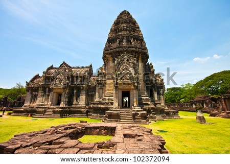 Khmer architecture in phimai thailand stock photo for Architecture khmer