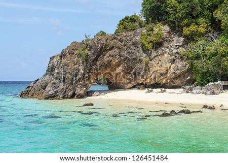 Kho Kai at Satun Island.Thailand - stock photo