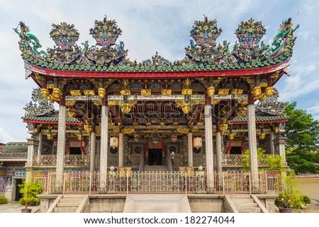 Khoo kongsi temple at penang, world heritage site , Malaysia - stock photo