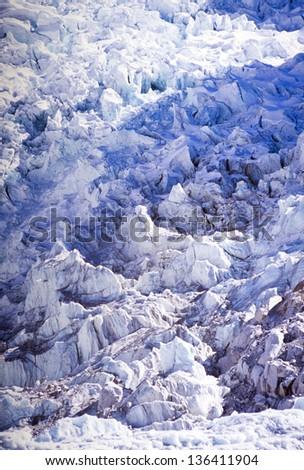 Khumbu Icefall at Mount Everest Base Camp, Nepal Himalaya - stock photo