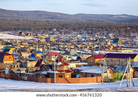 Khuzhir village near Baikal lake on Olkhon island, Siberia, Russia