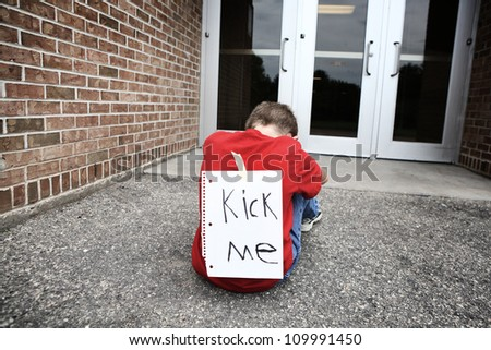 Kick me - stock photo