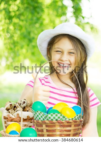 kid and Easter - stock photo