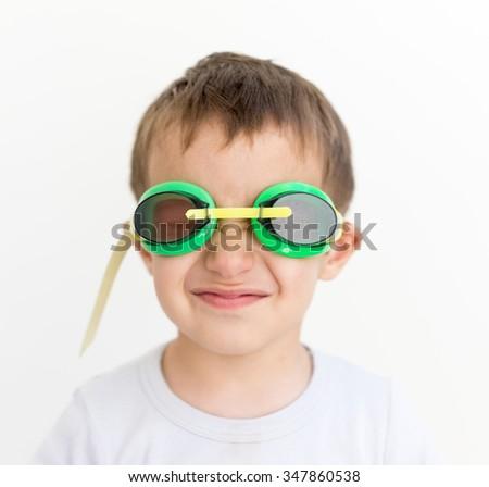 Kid face - stock photo