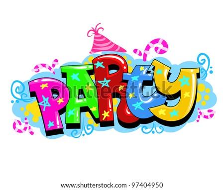 Kid Party Invitation - stock photo