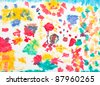 Kid's artwork colorful background - stock photo