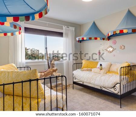 Kid's Room in Luxury Home - stock photo