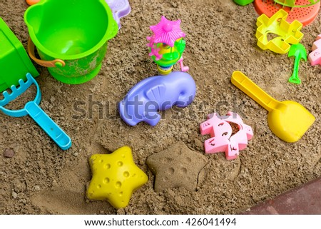 Kid's sandbox give children a fun, place to play with kids.