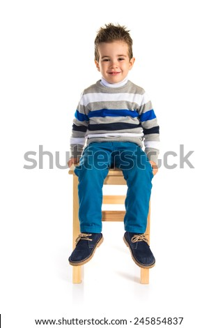 how to draw a boy sitting on a chair
