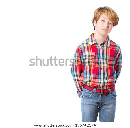 Kid wink gesture - stock photo