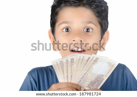 kid with expression on the face - stock photo