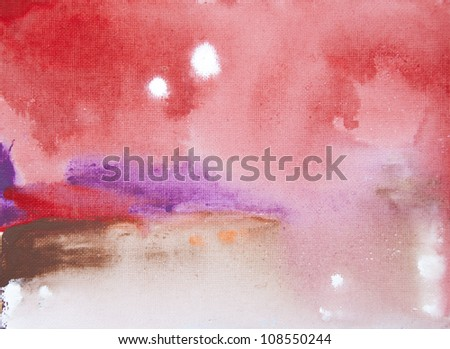 Kids Abstract Artwork Background on canvas - stock photo
