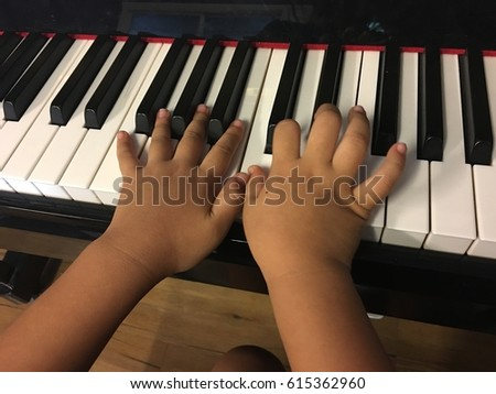Kids Activity, Piano Lesson