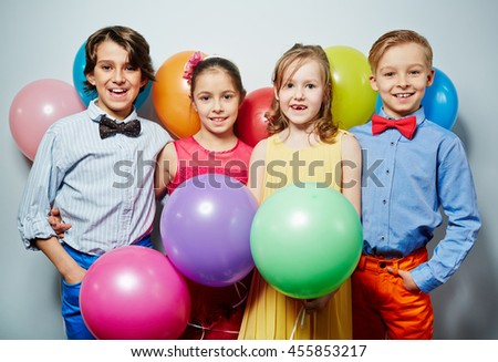 Kids at party