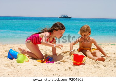 Kids at the beach