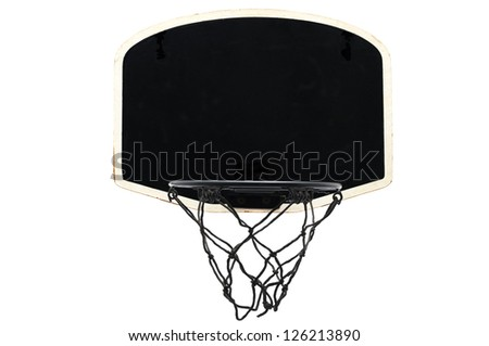 Kids Basketball Hoop isolated on white background - stock photo
