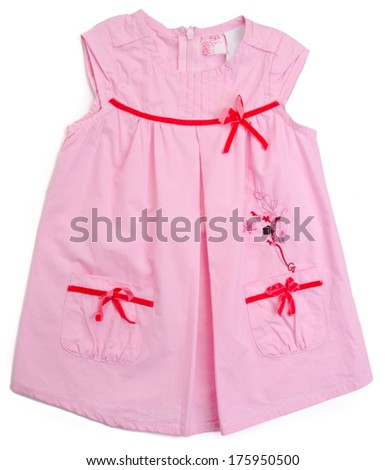 kids blouse and skirt on background - stock photo