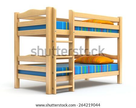 Kids bunk bed - stock photo