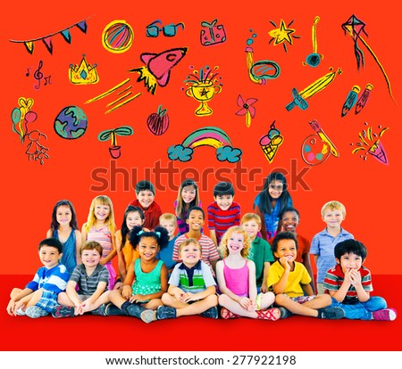 Kids Childhood Leisure Activity Education Concept - stock photo