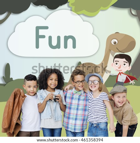 Kids Children Childhood Imagination Happy Concept