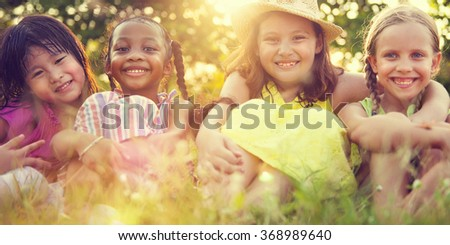 Kids Children Playing Happiness Concept - stock photo