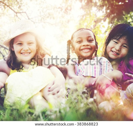 Kids Children Playing Happiness Concept