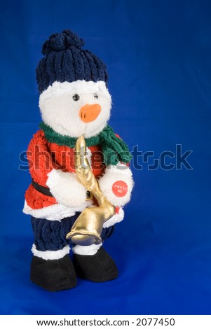 kids christmas toy snowman