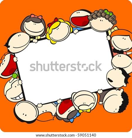 Kids frame (raster version) - stock photo