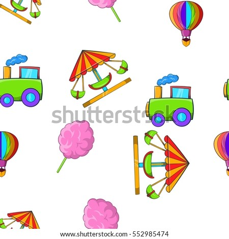 Kids games pattern. Cartoon illustration of kids games  pattern for web