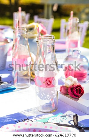 Kids Garden Party Table Setting  sc 1 st  Shutterstock & Kids Garden Party Table Setting Stock Photo (Royalty Free) 624619790 ...