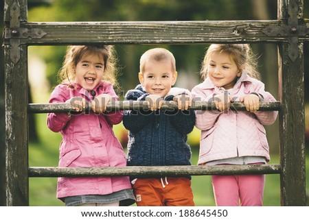Kids having fun - stock photo