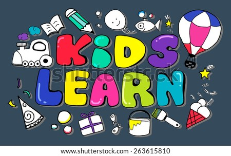 Kids Learn Education Creativity Children Ideas Concept - stock photo