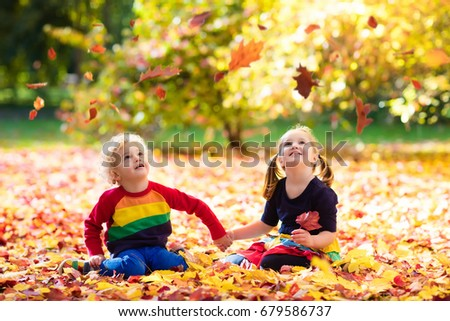 Child Jumping In Leaves Stock Images, Royalty-Free Images ...