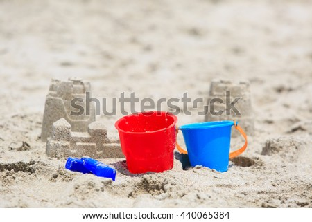 kids play on beach concept