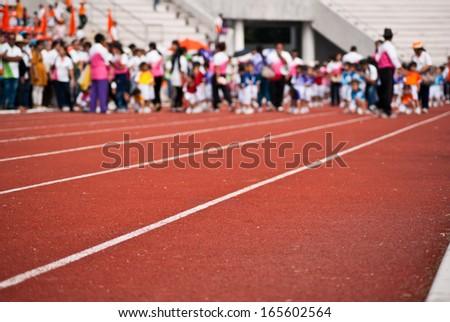 Kids race - stock photo