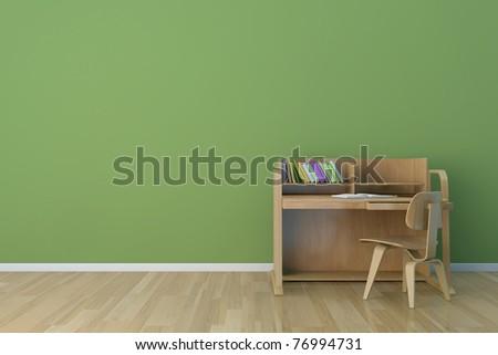 kids room desk - stock photo