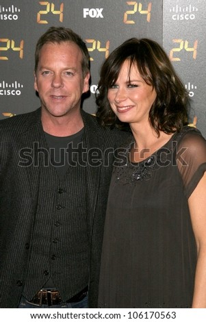 Kiefer Sutherland and Mary Lynn Rajskub  at the Season 7 Premiere Party for '24'. Privilege, Los Angeles, CA. 01-06-08
