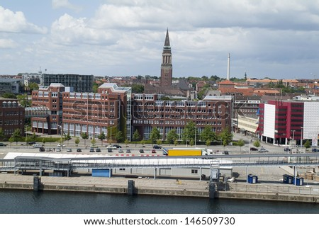 Kiel, Germany, buildings and tower of the town hall